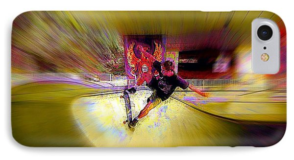 IPhone Case featuring the photograph Skateboarding by Lori Seaman