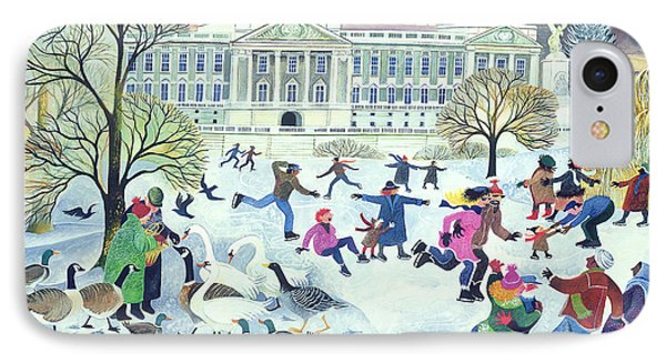 Skaters At St James's Park IPhone Case by Lisa Graa Jensen