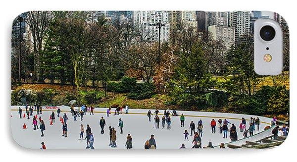Skating At Central Park IPhone Case by Sandy Moulder