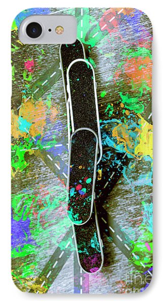 Skating Pop Art IPhone Case by Jorgo Photography - Wall Art Gallery