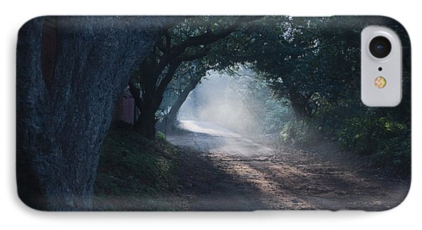 Skc 4671 Road Towards Light IPhone Case by Sunil Kapadia