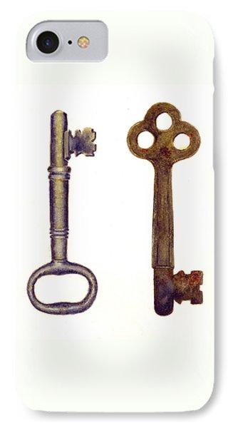 Skeleton Keys IPhone Case by Michael Vigliotti
