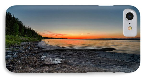 IPhone Case featuring the photograph Skeleton Lake Beach At Sunset by Darcy Michaelchuk