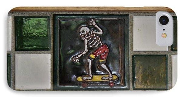 Skeleton On Wheels IPhone Case
