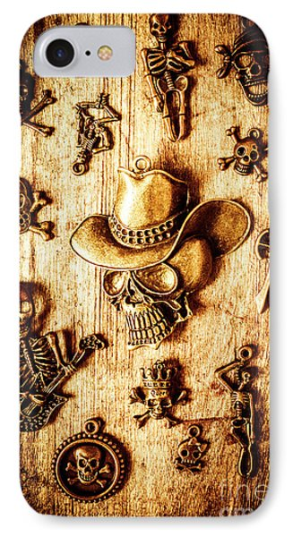 IPhone 7 Case featuring the photograph Skeleton Pendant Party by Jorgo Photography - Wall Art Gallery