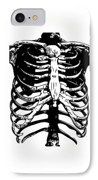 Skeleton Ribs IPhone Case by Eclectic at HeART