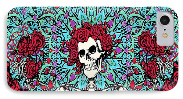 skeleton With Roses IPhone Case