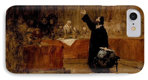 Sketch For Columbus Before The Council Of Salamanca IPhone Case by William Merritt Chase