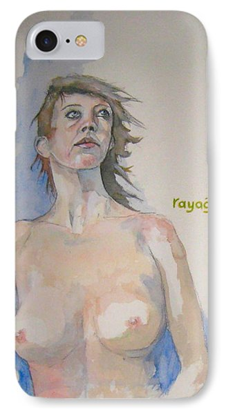 IPhone Case featuring the painting Sketch For Megan V by Ray Agius