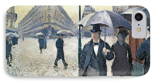 Sketch For Paris A Rainy Day IPhone Case by Gustave Caillebotte