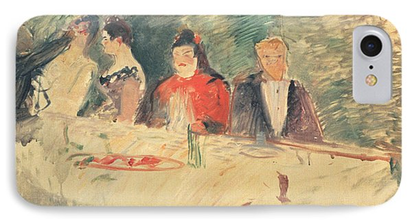 Sketch For The Supper IPhone Case by Henri De Toulouse-Lautrec