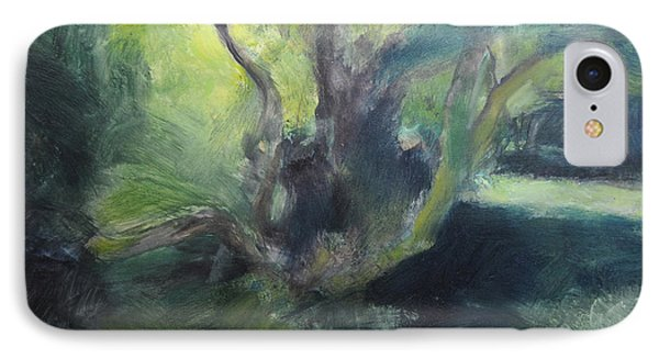 IPhone Case featuring the painting Sketch Of A Shady Glade. by Harry Robertson
