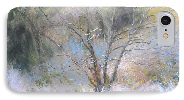 Sketch Of Halation Effect Through Trees IPhone Case