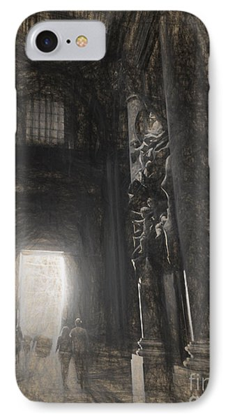sketch of St Peter's Basilica interior IPhone Case
