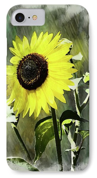 Sketchy Sunflower 2 IPhone Case by Marty Koch