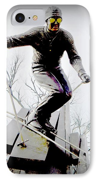 Ski On The Edge IPhone Case