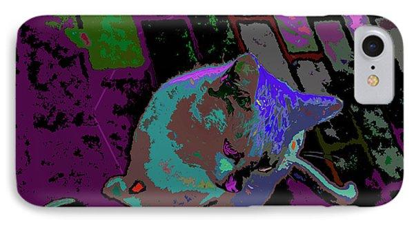 Skid Row Kitten IPhone Case