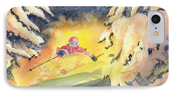 Skiing Art IPhone Case by Melly Terpening