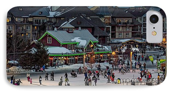 Skiing At The Village Phone Case by Jeff S PhotoArt