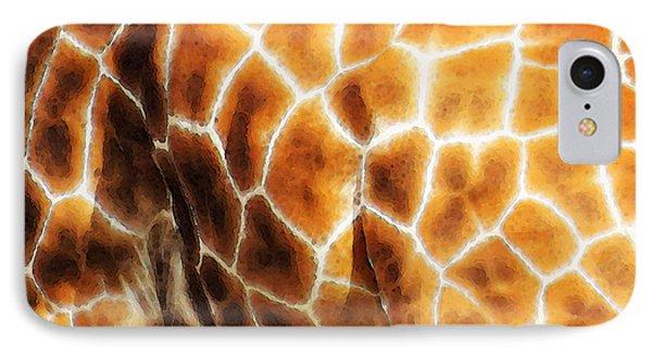 Skin Deep - Buy Giraffe Art Prints IPhone Case by Sharon Cummings