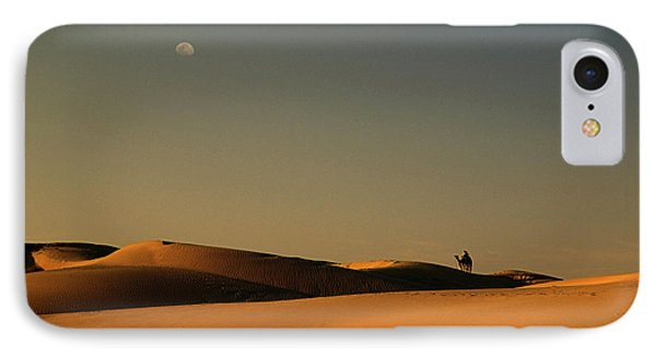 Skn 1117 Camel Ride At 6 IPhone Case by Sunil Kapadia
