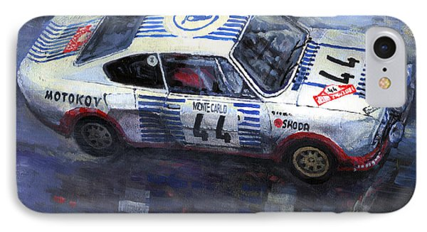 Skoda 130 Rs #44 Monte Carlo 1977 IPhone Case by Yuriy Shevchuk