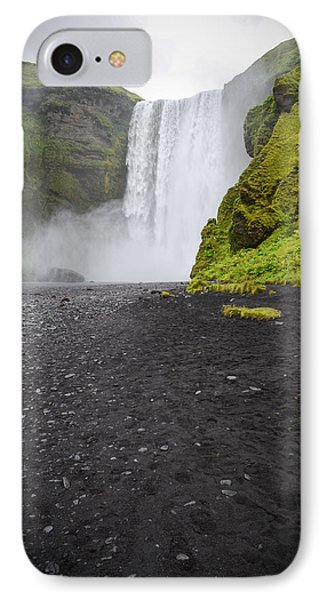 Skogafoss The Entrance To Fimmvorduhals IPhone Case