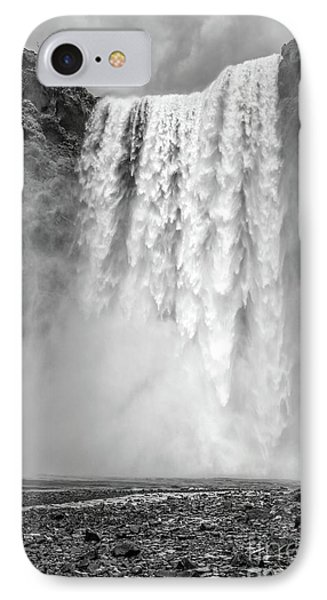 IPhone Case featuring the photograph Skogafoss Waterfall Iceland by Edward Fielding