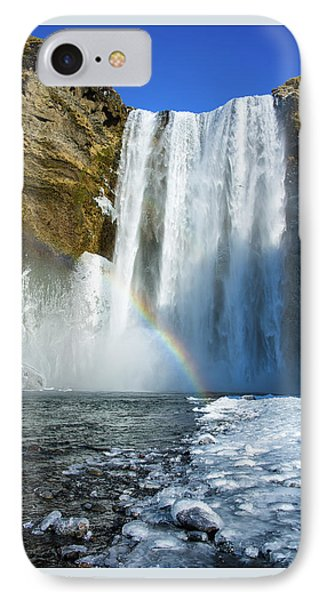IPhone Case featuring the photograph Skogafoss Waterfall Iceland In Winter by Matthias Hauser