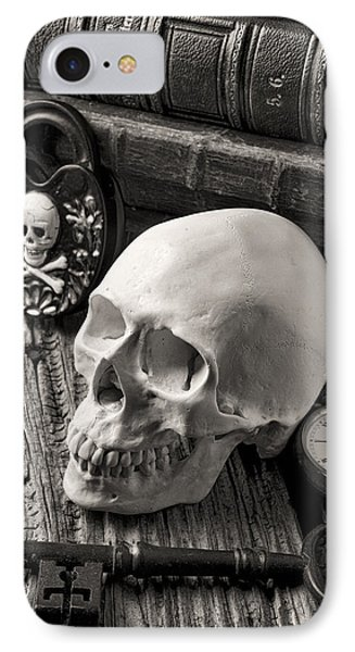Skull And Skeleton Key IPhone Case by Garry Gay
