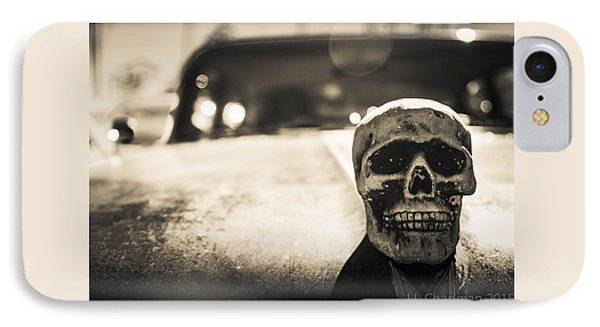 Skull Car IPhone Case by Lora Lee Chapman