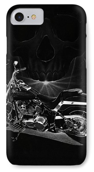 Skull Harley IPhone Case by Tim Dangaran
