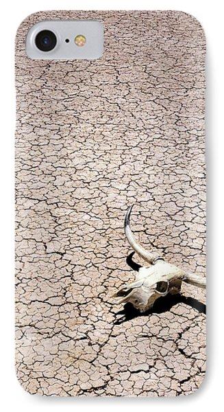 Skull In Desert Phone Case by Kelley King