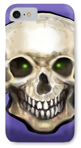 IPhone Case featuring the painting Skull by Kevin Middleton