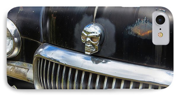 Skull On The Hood IPhone Case by Garry Gay