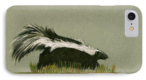 Skunk Animal IPhone Case by Juan  Bosco