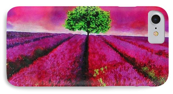 Sky And Field Aflamed IPhone Case by Marie-Line Vasseur