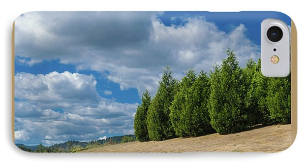 Sky And Trees IPhone Case by Daniel LaFollette