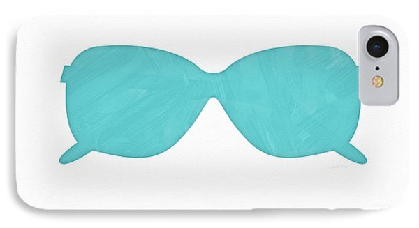 Sky Blue Sunglasses- Art By Linda Woods IPhone Case by Linda Woods