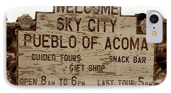 Sky City Sign Phone Case by David Lee Thompson