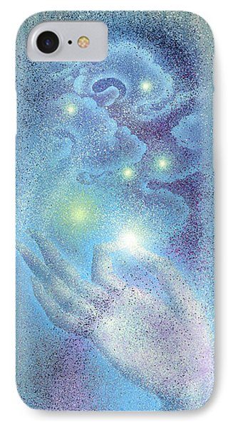 IPhone Case featuring the painting Sky Mudra by Ragen Mendenhall