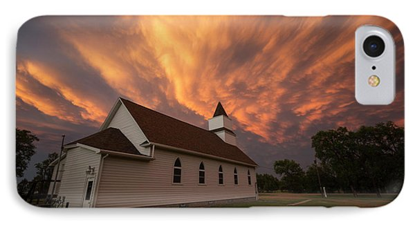 IPhone Case featuring the photograph Sky Of Fire by Aaron J Groen