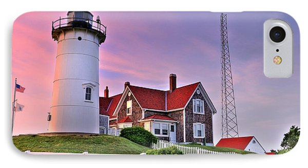 Sky Of Passion - Nobska Lighthouse IPhone Case by Thomas Schoeller