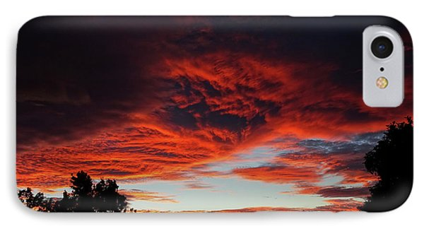 IPhone Case featuring the photograph Sky On Fire by Angela DeFrias