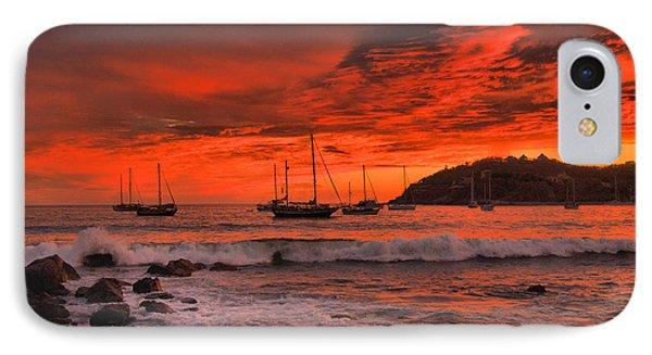 Sky On Fire IPhone Case by Jim Walls PhotoArtist