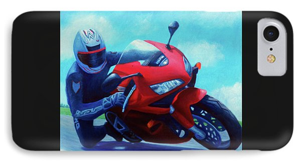 Sky Pilot - Honda Cbr600 IPhone 7 Case by Brian  Commerford