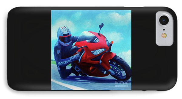 Motorcycle iPhone 7 Case - Sky Pilot - Honda Cbr600 by Brian  Commerford