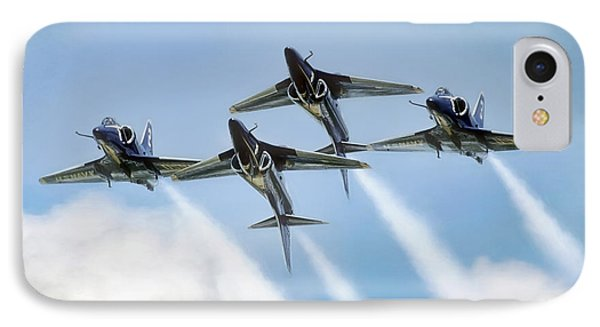 Skyhawk Double Farvel IPhone Case by Peter Chilelli