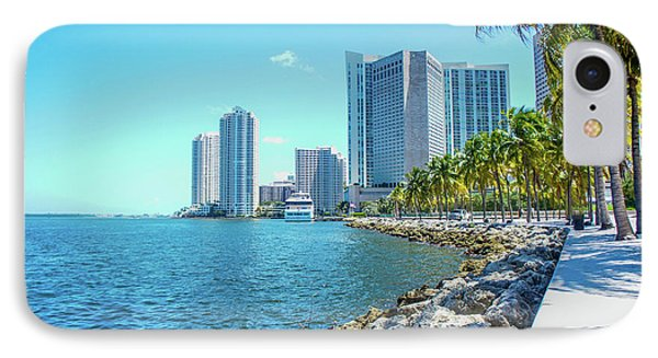 Skyline And Bayfront Park, Miami, Florida IPhone Case