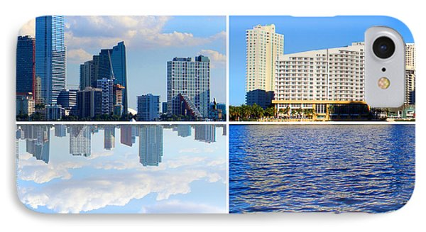 Skyline Brickell Right IPhone Case by Adrian Eguis